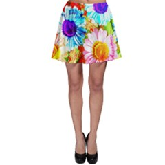 Colorful Daisy Garden Skater Skirt by DanaeStudio