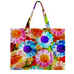 Colorful Daisy Garden Mini Tote Bag by DanaeStudio