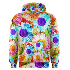 Colorful Daisy Garden Men s Pullover Hoodie by DanaeStudio