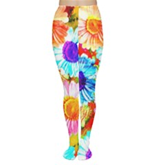Colorful Daisy Garden Women s Tights by DanaeStudio