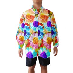 Colorful Daisy Garden Wind Breaker (kids) by DanaeStudio