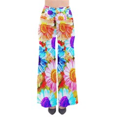 Colorful Daisy Garden Pants by DanaeStudio