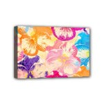 Colorful Pansies Field Mini Canvas 6  x 4