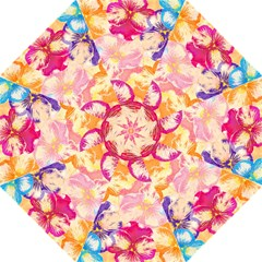 Colorful Pansies Field Folding Umbrellas by DanaeStudio
