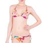 Colorful Pansies Field Bikini Set