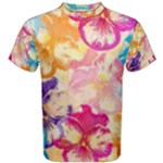 Colorful Pansies Field Men s Cotton Tee