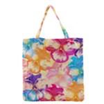 Colorful Pansies Field Grocery Tote Bag