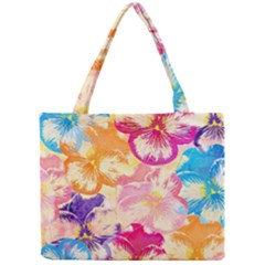 Colorful Pansies Field Mini Tote Bag by DanaeStudio