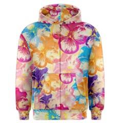 Colorful Pansies Field Men s Zipper Hoodie