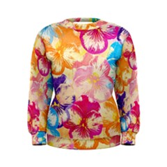 Colorful Pansies Field Women s Sweatshirt by DanaeStudio
