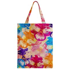 Colorful Pansies Field Zipper Classic Tote Bag by DanaeStudio