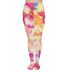 Colorful Pansies Field Women s Tights