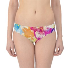 Colorful Pansies Field Hipster Bikini Bottoms by DanaeStudio
