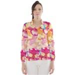 Colorful Pansies Field Wind Breaker (Women)