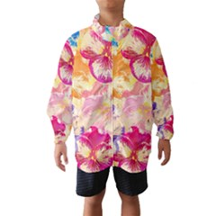 Colorful Pansies Field Wind Breaker (kids)