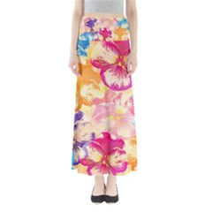 Colorful Pansies Field Maxi Skirts by DanaeStudio