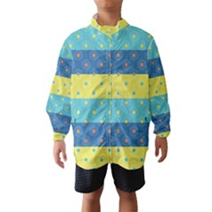 Hexagon And Stripes Pattern Wind Breaker (kids)