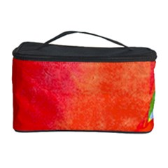 Lovely Red Poppy And Blue Dots Cosmetic Storage Case