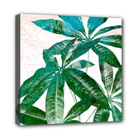 Pachira Leaves  Mini Canvas 8  X 8