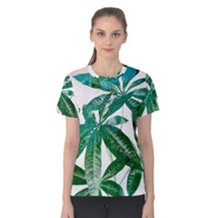 Pachira Leaves  Women s Cotton Tee