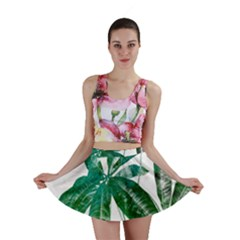 Pachira Leaves  Mini Skirt