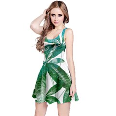 Pachira Leaves  Reversible Sleeveless Dress