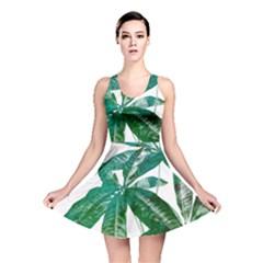 Pachira Leaves  Reversible Skater Dress by DanaeStudio