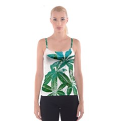 Pachira Leaves  Spaghetti Strap Top