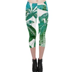 Pachira Leaves  Capri Leggings