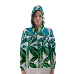 Pachira Leaves  Hooded Wind Breaker (women)