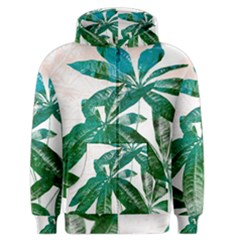 Pachira Leaves  Men s Zipper Hoodie