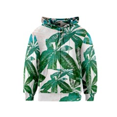 Pachira Leaves  Kids  Zipper Hoodie