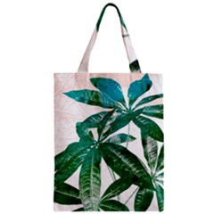 Pachira Leaves  Zipper Classic Tote Bag