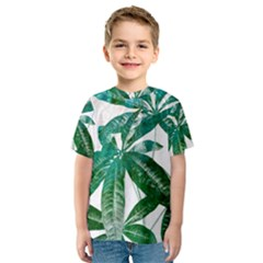 Pachira Leaves  Kids  Sport Mesh Tee