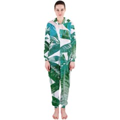 Pachira Leaves  Hooded Jumpsuit (ladies)