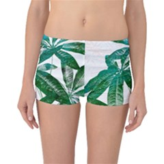 Pachira Leaves  Boyleg Bikini Bottoms