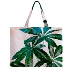 Pachira Leaves  Medium Zipper Tote Bag