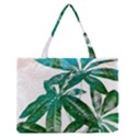 Pachira Leaves  Medium Zipper Tote Bag View1