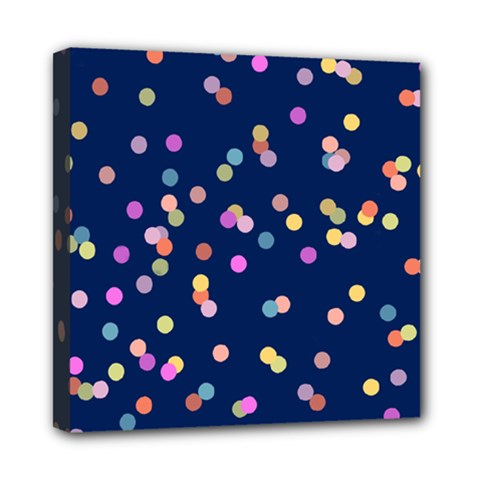 Playful Confetti Mini Canvas 8  X 8