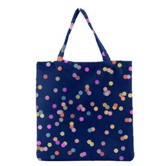 Playful Confetti Grocery Tote Bag by DanaeStudio
