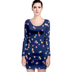 Playful Confetti Long Sleeve Bodycon Dress