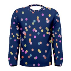 Playful Confetti Men s Long Sleeve Tee