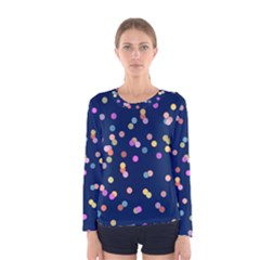 Playful Confetti Women s Long Sleeve Tee