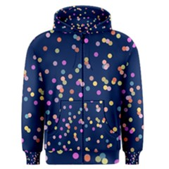 Playful Confetti Men s Zipper Hoodie