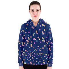 Playful Confetti Women s Zipper Hoodie