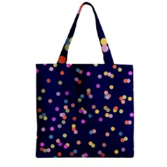 Playful Confetti Zipper Grocery Tote Bag