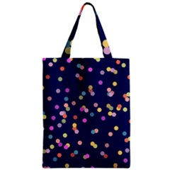 Playful Confetti Zipper Classic Tote Bag