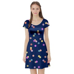 Playful Confetti Short Sleeve Skater Dress