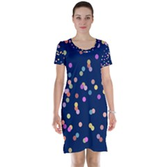 Playful Confetti Short Sleeve Nightdress