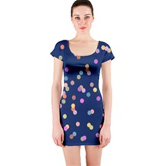 Playful Confetti Short Sleeve Bodycon Dress
